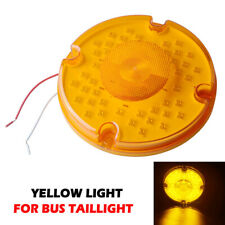 "1x Amber 7"" Round LED Stop Turn Signal Tail Brake Bus Truck Trailer Rear Light"