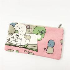 Sumikko Gurashi pink canvas pencil pen bag handbag makeup bags cosmetic bag