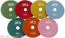 "100mm (4"") WET Diamond polishing pads Concrete Granite Marble Individual Grits"