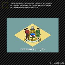 "4"" Delaware Flag Sticker Decal Self Adhesive Vinyl state the diamond blue hen"