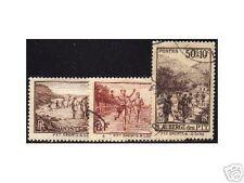 "FRANCE 1937 Y&T 345/47 ""OEUVRES DES P.T.T"" OBLITERES TB"