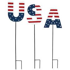 Metal Usa Stakes, Set of 3 by Fox RiverTm Creations, Usa