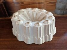 English Shelley Ironstone Shaped Jello/Aspic Jelly Mold Antique White 1930s