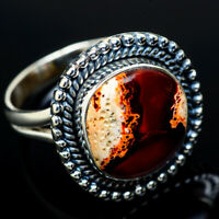Mexican Fire Opal 925 Sterling Silver Ring Size 8.25 Ana Co Jewelry R11805F