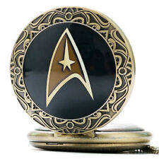 Vitnage Xmas Gift Star Trek Captain Kirk Quartz Pocket Watch Necklace Men Women