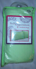 "Brand New Self Expression Standard Pillow Sham Kiwi Green 19"" x 25"" Polyester"
