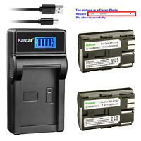 Kastar LCD Charger Battery for Canon BP-511 CG-580 & Canon Optura 10 Optura 20