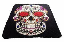 Brand New Sugar Skull print Queen size Luxury blanket