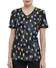 MINIONS Scrub Top Shirt Women's Size S - XL Plus 2X 3X The Rise Of Gru Halloween