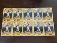 1987 Topps Barry Bonds RC Lot of 10 Rookie Cards Pittsburgh Pirates