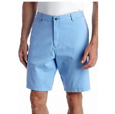 "Saddlebred Big & Tall Flat Front Cotton Twill 10"" Walking Shorts 50 Bubble Blue"