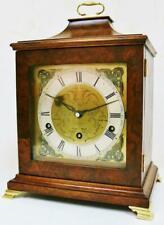 Antique Westminster Chime Musical Bracket Clock Walnut 8 Day Mantel Clock Repair