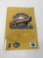 Major League Baseball Ft. Ken Griffey Jr Instruction Manual ONLY Nintendo 64 N64