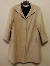 Canda Womens All Weather Trench Coat Beige Size 3X (Bust 52) Zip Out Lining