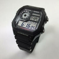 Men's Casio World Time Digital Watch AE1200WH-1A