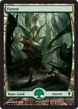 [1x] Forest (247) - Full Art - Foil [x1] Zendikar Slight Play, English -BFG- MTG