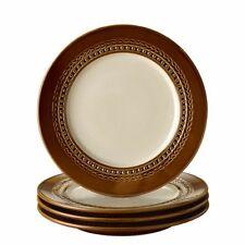 Paula Deen Southern Gathering 4 piece Appetizer Salad Plate Set Chestnut 8 inch