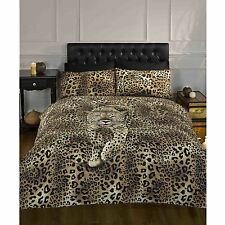 PROWLING LEOPARD SINGLE DUVET COVER SET ANIMAL PRINT