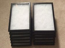 """1 - Box (of 12) 8 x 12"""" x 3/4"""" Display Cases (""""Riker"""" type - Made in USA)"""