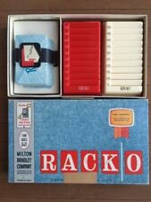 1961 RACKO Card & Point Rummy Game by Milton Bradley: 10 to Adult