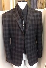 David August Jacket Multi Tones Of Black And Gray Detachable Collar 42 Short