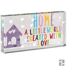 Spaceform Landscape Glass Token Home A Little World Family Love Gift Box 1903