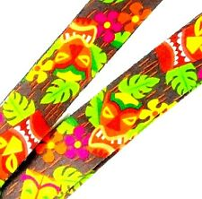 Break Away Lanyard Tiki Mask Design w Clip for I.D. or Keys 22 inches long