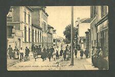 Parc Saint Maur Postcard Just After World War 1 Street Scene in France