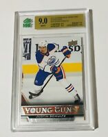 2013-14 UPPER DECK SERIES ONE YOUNG GUNS JUSTIN SCHULTZ GRADED 9.0 OILERS
