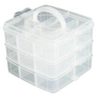Large Plastic Grid Craft Beads Jewellery Storage Organiser Compartment Box O1N7