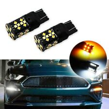 2x No Hyper Flash Switchback LED Bulbs Turn Signal Lights For 15-up Ford Mustang