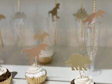 24 Custom Paper Straws &36 Cupcake Topper Dinosaur Safari Animals Birthday Party
