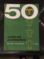 RARE 1957 WORLD JAMBOREE BULLETIN-IN ENGLISH & typed Letter And Envelope. Mint.
