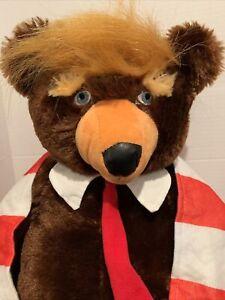 "Trumpy Bear Deluxe 24"" Plush American Flag Cape Blanket President Donald Trump"
