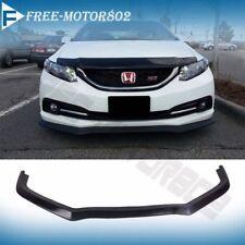For 13-15 Honda Civic 4door Aero Front Bumper Lip Spoiler Bodykit PolyUrethane
