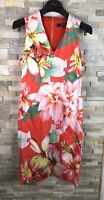 Star By Julien Macdonald Ladies Size UK 12 V Neck Red Floral Gorgoues Dress