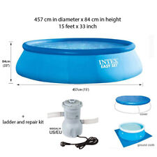 INTEX 15 Feet 457*84cm Above Ground Swimming Pool Piscina Easy Set Filter Pump