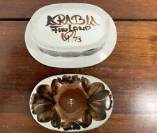 Vintage Finland Arabia Lidded Butter Dish Rosmarin Ulla Procope VGC