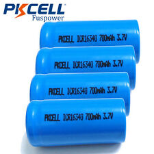 4xCR123A 123A CR123 16340 700Mah 3.7V Lithium Li-ion Rechargeable Battery PKCELL