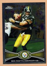 2012 Topps Chrome Football #182 Ben Roethlisberger Pittsburgh Steelers NMT