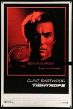 "Original TIGHTROPE Rare 40""x60"" ROLLED CLINT EASTWOOD"