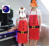 Women Kids Christmas Santa Clause Kitchen Barbecue Party Apron vest protector