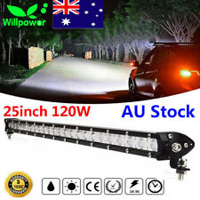 25inch 120W Spot Flood Combo Slim LED Work Light Bar Single Row Car 4WD Off road