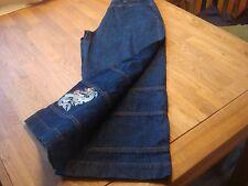neu, ACTIVE BY ARIZONA, Jeans 7/8, Gr. 38, dunkelblau, Stickerei Drache