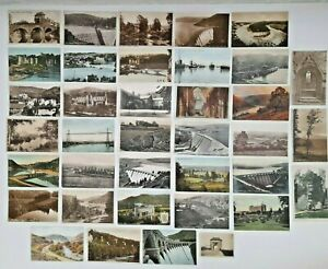 Qty 36 x Welsh Topographical Postcards Monmouthshire Newport Rhayader Wye Valley