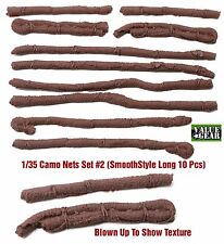 "1/35 Universal Camo Nets Set #2 ""Smoother Style Long"" Value Gear 10pcs Resin"