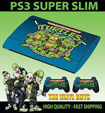 Playstation ps3 Super Slim Classic Teenage Mutant Retro Schildkröte Santiago Haut Aufkleber
