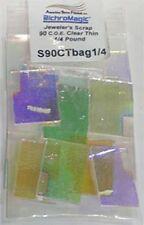 90 COE 1/4lb. Thin 2mm Thickness Clear Dichroic Scrap Bag by Austin