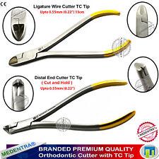 Ligadura Cortadores de alambre Suave Alambre dental Aparatos De Ortodoncia extremo distal Cutter Cut almacenar 2PCS