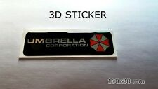 3D AUFKLEBER -STICKER- Umbrella Corporation Resident Evil chrome effect 100x30mm